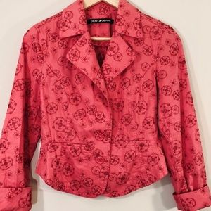 DKNY JEANS- Embroidered Lightweight Jacket